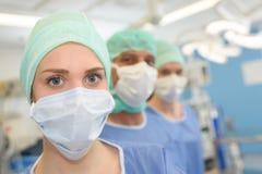 Portreta medyczny personel w rzędzie Zdjęcie Stock