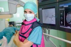 Portreta medyczny pracownik w theatre Fotografia Stock