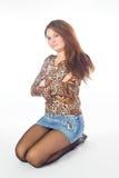 portreta mini scirt Zdjęcie Stock