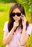 portreta okularów przeciwsłoneczne kobieta Obraz Royalty Free
