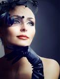 portreta retro stylowa rocznika kobieta Fotografia Royalty Free