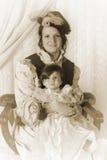 portreta rodzinny rocznik Zdjęcia Stock