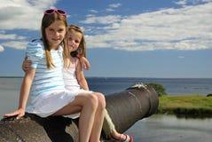 portreta s siostry wakacje Obraz Royalty Free