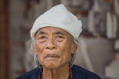 Portreta stary człowiek w Bali wyspie Indonezja fotografia stock