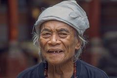 Portreta stary człowiek w Bali wyspie Indonezja Obraz Stock