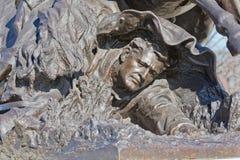 Portreta szczegółu kawalerii ładunku statuy wojny domowej pomnika washington dc fotografia stock