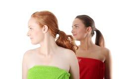 portreta zdroju dwa kobieta Obraz Stock