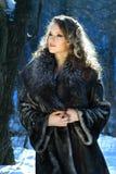 portreta zima kobieta Zdjęcia Royalty Free