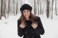 portreta zima kobiety potomstwa Obraz Stock