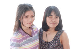 Portretpaar van vrouwen Royalty-vrije Stock Foto