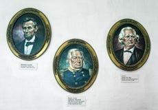 Portretten, historische cijfers stock foto's