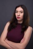 Portretten mooi meisje in de studio royalty-vrije stock foto