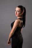 Portretten mooi meisje in de studio royalty-vrije stock fotografie
