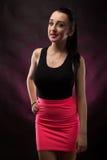 Portretten mooi meisje in de studio royalty-vrije stock afbeelding