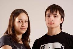 Portretten van de tieners Stock Foto's