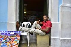 Portretten van de wereld Salvador, Bahia stock foto's