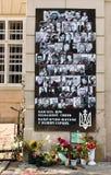 Portretten van die gedood de helden op van Maidan (Kyiv, de Oekraïne) stock afbeeldingen