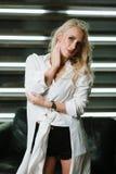 Portretten van een blonde royalty-vrije stock foto