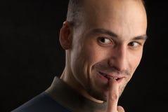 Portretten van een knappe mens Stock Fotografie
