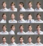 Portretten van een mens royalty-vrije stock afbeeldingen