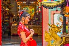 Portretten van een mooie Chinees royalty-vrije stock foto's