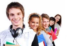 Portretten van gelukkige jonge studenten Stock Afbeeldingen