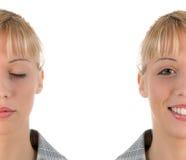 Portretten van gezicht twee Stock Foto's