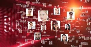 Portretten van mensen op abstracte achtergrond vector illustratie