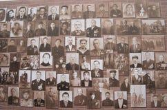 Portretten van militairen van de grote Patriottische oorlog in bruin royalty-vrije stock foto's