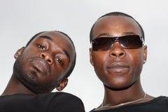 Portretten van twee zwarte mensen Stock Afbeelding