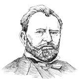 Portretten van Ulysses S. Grant Stock Foto