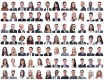 Portrety pomyślni pracownicy odizolowywający na bielu fotografia stock