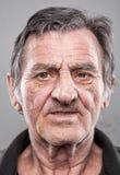 Portriat de um homem idoso fotos de stock