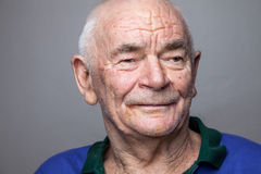 Portriat of an elderly man. Closeup portriat of an elderly man Royalty Free Stock Images