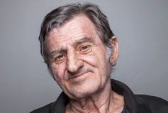 Portriat of an elderly man Stock Images