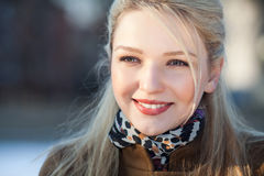 Portrit of beautiful smiling girl Royalty Free Stock Photography