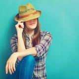 Portrit da menina do país da forma imagens de stock