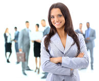 Portrrait of a young business woman Royalty Free Stock Image