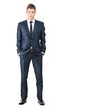 Porträt auf jungem gutaussehendem Mann Lizenzfreie Stockfotografie