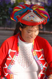 Porträt der peruanischen indischen Frau Lizenzfreies Stockbild