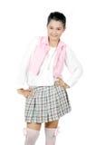 Porträt des asiatischen jungen Mädchens des Jugendlichen Lizenzfreie Stockfotografie