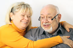 Porträt des glücklichen Paars, Nahaufnahme Lizenzfreie Stockfotografie