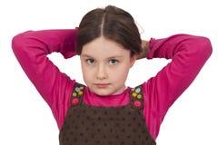 Porträt des schönen kleinen Mädchens Stockfotos