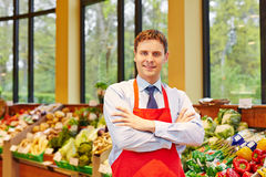 Porträt des SupermarktGeschäftsleiters Stockbilder
