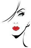 Porträt einer Frau Stockbilder