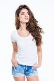 Porträt einer jungen hübschen Frau Lizenzfreie Stockbilder