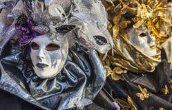 Porträt einer venetianischen Maske Stockfotos