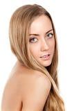 Porträt eines schönen weiblichen Baumusters Lizenzfreie Stockfotos