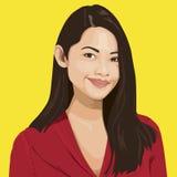 Porträt intelligenter Dame Vector Lizenzfreies Stockbild