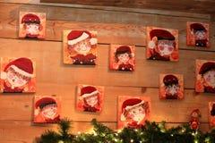 Porträt von zwergartigen Kobolddekorationen der Gnomgnomen für Weihnachten Lizenzfreie Stockbilder